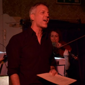 image of Nicholas Cass-Beggs singing the Juliet Letters