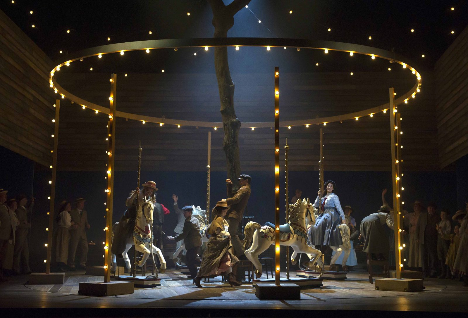 Production shot of Carousel Opera North